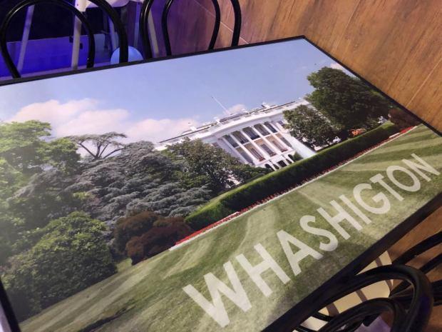 Mesa tematica Amerikana grill Casa Blanca