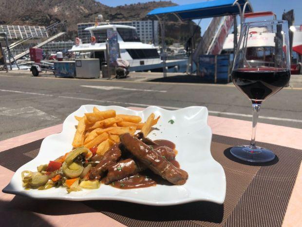 solomillo de cordero con reducción de oporto y miel cocina mediterránea grill costar mar