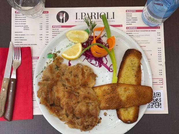 menú diario restaurante gastronomía italiana i parioli Las Palmas