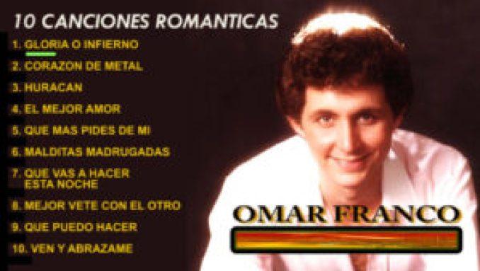 Canciones de amor - OMAR FRANCO - 10 Canciones Románticas