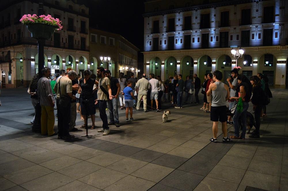 Huesca de Corto. Plaza López Allué.