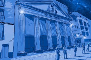 teatro olimpia. Dibujo: Lorenzo Caudevilla