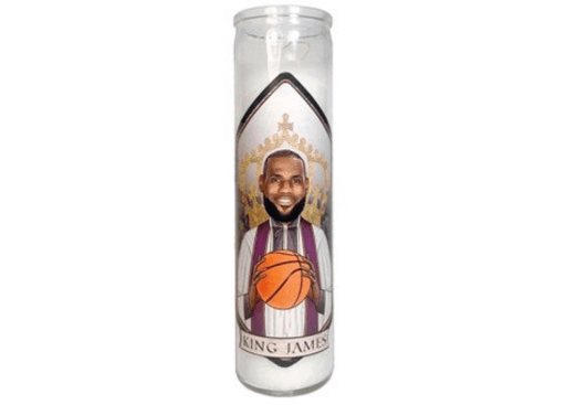 LeBron James prayer candle is a one of a kind gift for basketball fans