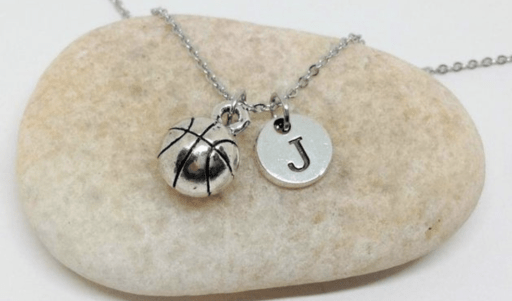 A basketball charm necklace makes a great gift for basketball players