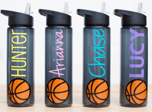 Personalized basketball water bottle gift