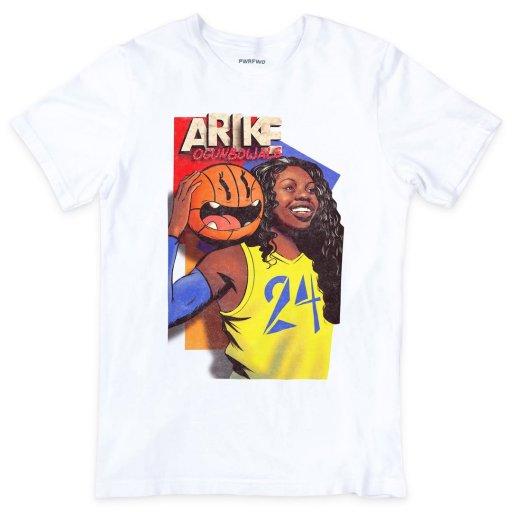 Arike Ogunbowale's trading card t-shirt for sale