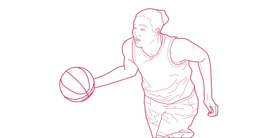 Napheesa Collier free coloring book page from Queen Ballers Club