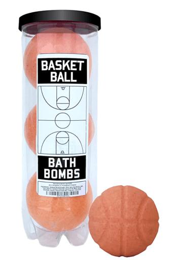 Basketball bath bombs are a nice gift for basketball players