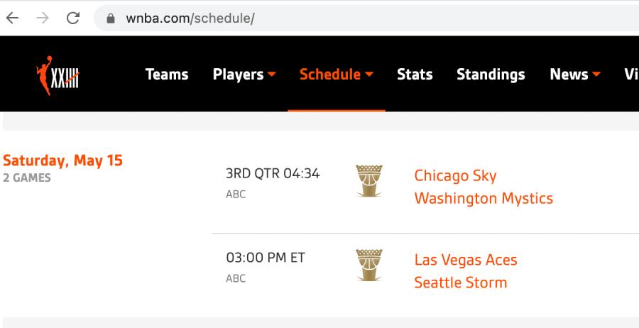 WNBA League Pass watch games