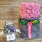 Custom Cake by Sugar Mommas of Twin Falls, ID and a matching card by Queen B Creations