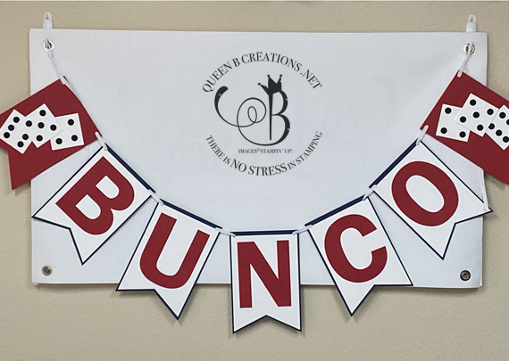 Stampin' Up! Stampin' Bunco banner with Lisa Ann Bernard of Queen B Creations