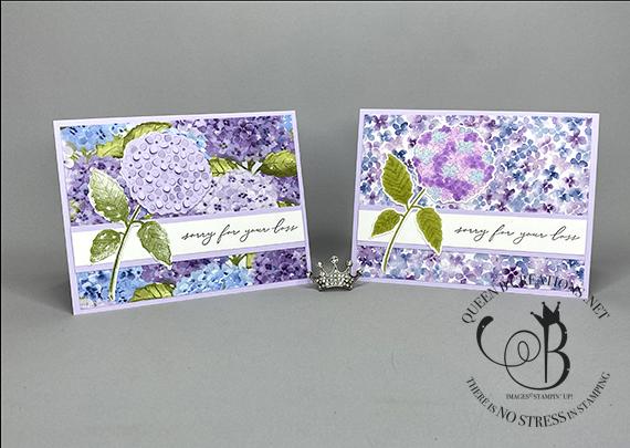 Stampin' Up! Hydrangea Haven handmade sympathy card by Lisa Ann Bernard of Queen B Creations