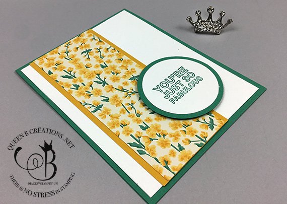 Stampin' Up! Many Mates stamp set & Flowers for Every Season DSP card made by Lisa Ann Bernard of Queen B Creations