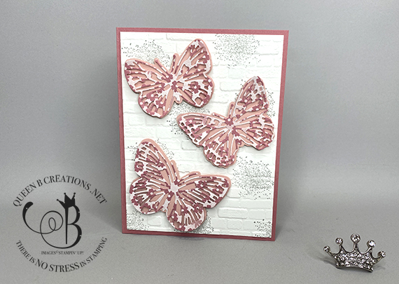 Stampin' Up! Butterfly Brilliance Paper Blooms on bricks and mortar by Lisa Ann Bernard of Queen B Creations