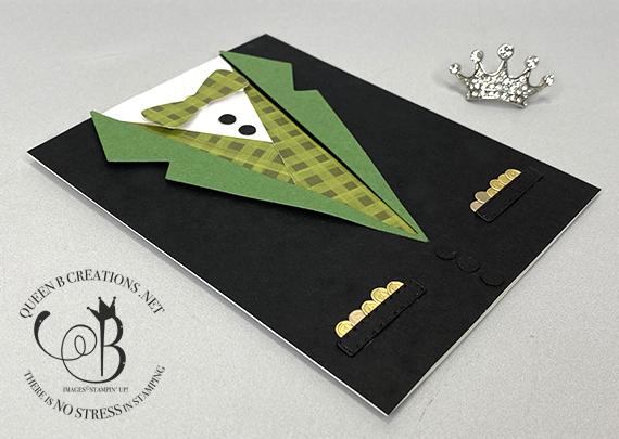 Stampin' Up! Suit Dies Leprechaun suit St Patricks Day card by Lisa Ann Bernard of Queen B Creations