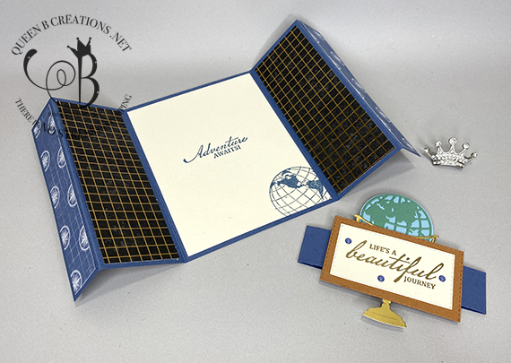 Stampin' Up! Beautiful World of Good double gate fold card by Lisa Ann Bernard of Queen B Creations