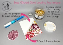 Easy Gilded Gold Leafing Technique