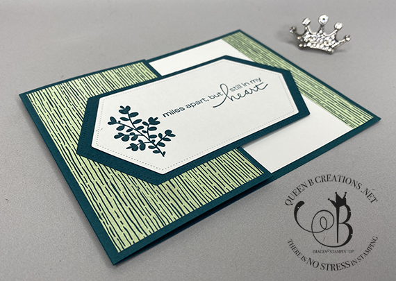 Stampin' Up! Lovely You Stitched Nested Labels Forever Greenery DSP card by Lisa Ann Bernard of Queen B Creations