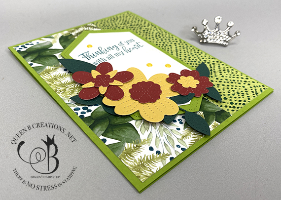 Stampin' Up! Pierced Blooms Dies and Peaceful Moments card by Lisa Ann Bernard of Queen B Creations