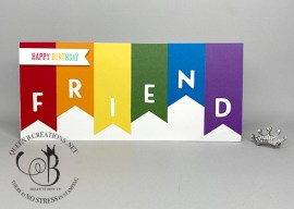 Playful Alphabet Rainbow Slimline Card