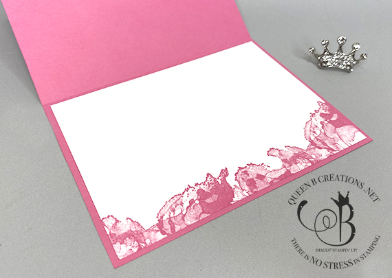 Stampin' Up! Artistically Inked Best Wishes in Polished Pink by Lisa Ann Bernard of Queen B Creations