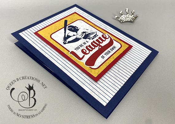 Stampin' Up! Batter Up Alternative Easel Card by Lisa Ann Bernard of Queen B Creations