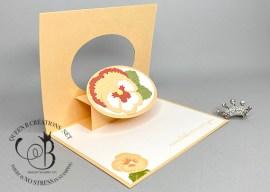 Pale Papaya Pop Up and Flip Card