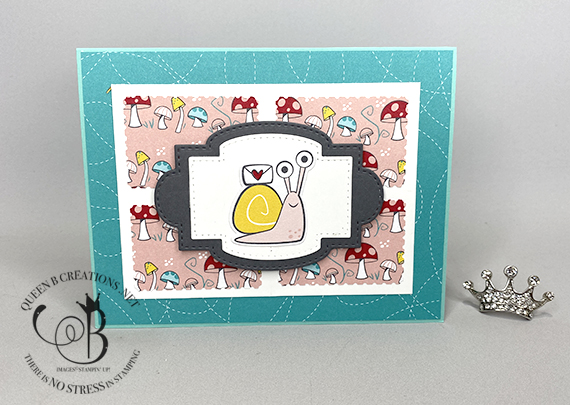 Stampin' Up! Snailed It Postage Stamp Punch card by Lisa Ann Bernard of Queen B Creations