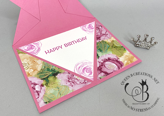 Stampin' Up! Expressions in Ink arrow fun fold card by Lisa Ann Bernard of Queen B Creations