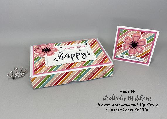 Stampin' Up! Mini Paper Pumpkin Box office set by Melinda Matthews of Creative Royalty team of Queen B Creations