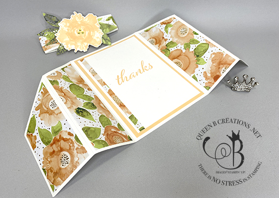 Stampin' Up! Artistic Impressions double gatefold card fun fold card by Lisa Ann Bernard of Queen B Creations