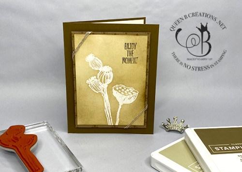 Stampin' Up! Enjoy the Moment emboss resist handmade card by Lisa Ann Bernard of Queen B Creations