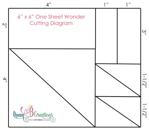 6 x 6 one sheet wonder cutting template