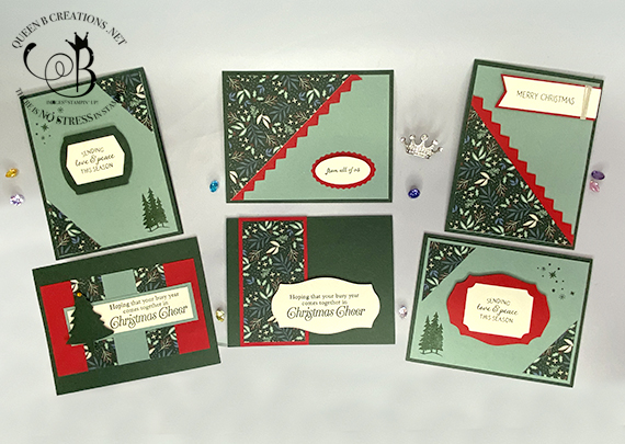 Stampin' Up! Tidings of Christmas 6 x 6 one sheet wonder cards