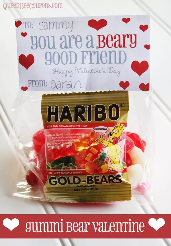 Easy Valentine Idea You Are A Beary Good Friend Haribo