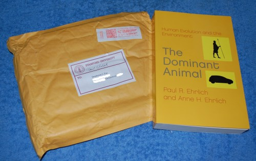 He Sent Me A Gift Too An Autographed Copy Of One His Own Entitled The Dominant Animal Human Evolution And Environment With Personal Note