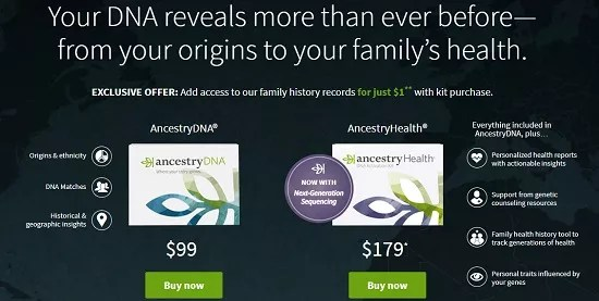 ancestry dna kits family history records for 1 dollar