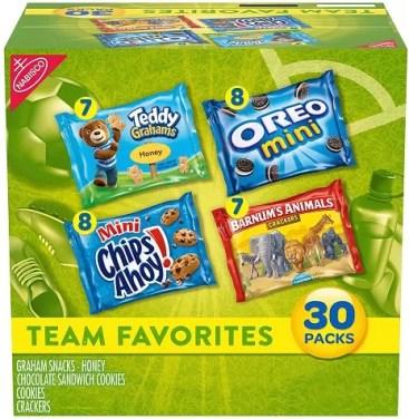 nabisco team favorites snack pack 30 count