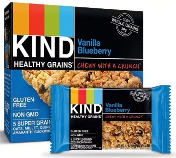 kind healthy grains bars vanilla blueberry 40 count