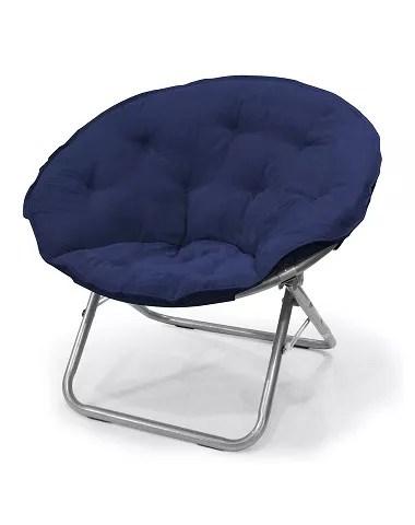 urban shop micro suede saucer chair navy