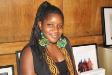 Shiri Achu Wearing Afrofusion Earrings