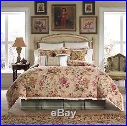 Croscill Cottage Rose Queen Comforter Set 5pc Vintage