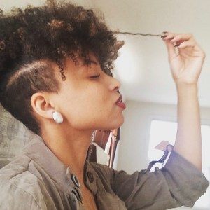 My sorority sister Anna's dope tapered cut.