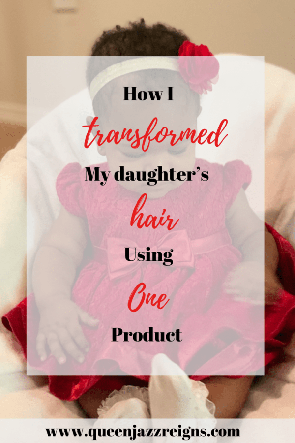Kali was born with so much hair! ( I experienced a lot of heartburn while pregnant). But then her hair started to fall out, kind of like how I experienced postpartum hair loss. I realized that her hair wasn't growing back as fast as I thought it should, so I started using this product that I absolutely love, Jamaican black castor oil! I use it on my hair all the time. I was hestitant to use it on her but, I did, and it works wonders! If it's too thick you can pair it will olive oil. Head over to my blog to read more about it!