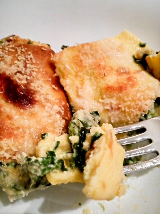 low carb spinach and ricotta cannelloni