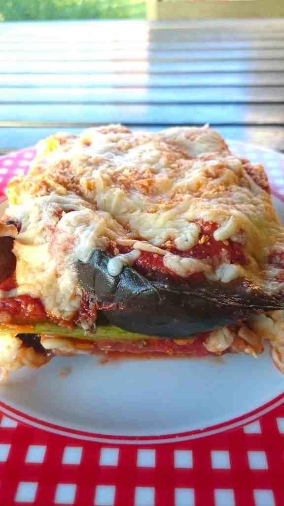 low carb eggplant zucchini parmigiana