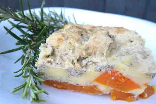 low carb butternut squash and mushroom lasagna