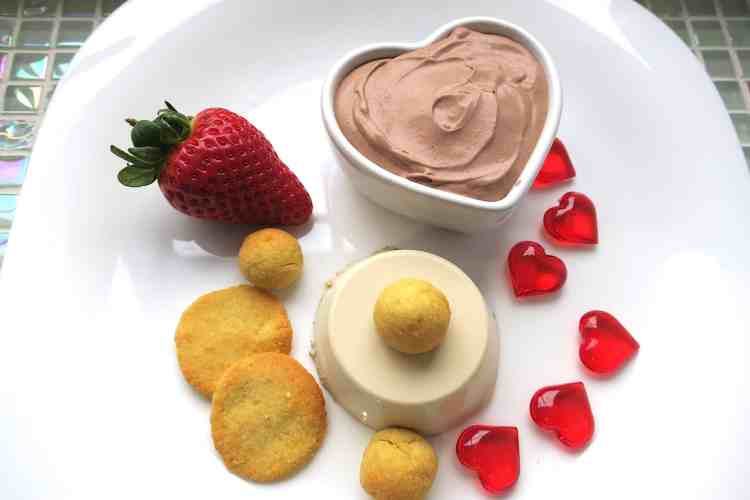 Keto Love Trio: Coffee Panna Cotta, Almond Bon-Bons, Chocolate Mousse