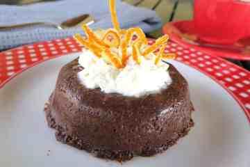 sugar free keto chocolate orange baked custard