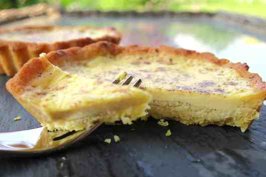 keto sugar free baked custard tarts